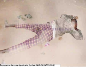 Armed Robbers Kill Rider, Snatch His Motorcycle In Ibadan[photo]